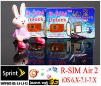 Wholesale For ios7 R SIM air2 R SIM air RSIM air r sim air Unlock for iphone S C S G iOS ios7 Support Sprint AT amp T T mobile AU SB