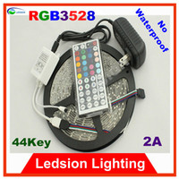 Holiday led light roll - 5pcs m SMD LED Strip light RGB white red blue yellow green LEDs Roll keys DC V A Ribbon Tape Roll no waterproof lamps