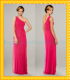 Wholesale Chiffon Custom Made New Big Discount One shoulder Long Bridesmaid Dresses Formal Adult Evening Dress Sheath Backless Prom Gowns