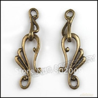 Clasps & Hooks bail findings - 150pairs Vintage Jewelry Toggle Clasp Finding Antique Bronze Alloy Bail Clasps x12x2mm