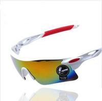 Wholesale 2014 New Brand Designer Cycling Glasses Men Women Outdoor Bike Fish Snow Sports Eyewear Sun Glasses Sunglasses UV400