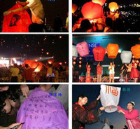 set proof paper bubble Quality Chinese Style Sky Kongming Lantern +Pen Flying Wishing Lamp Memorial Wedding Party Paper Lights(10pcs lot) Good Quality