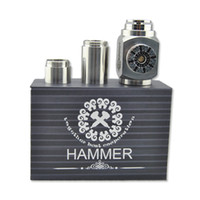 Silver Metal  Hammer Epipe Mod E Cigarette E Pipe Mod Mechanical Stainless Steel E-pipe DHL free Electronical Cigarette Kits