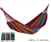 Hammocks and Cots Multi-colored Camping Swing Hanging Hammock Single Person Outdoor Camping Canvas Chair Garden