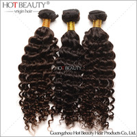 Wholesale DHL Free High Quality A Brazilian Virgin Curly Hair Deep Wave Brazilian Hair Weaving Natural Color