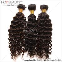 Wholesale DHL Free High Quality A Brazilian Virgin Curly Hair Deep Wave Brazilian Hair Weaving Natural Color