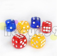 Wholesale 50pcs MM KTV bar game multicolor transparency games gambling dice toys adult game dice sex erotic lovers dice creative gift party dice