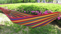 Hammocks and Cots Multi-colored Camping NEW camping hammock swing outdoor thickening canvas hammock casual single double bearing
