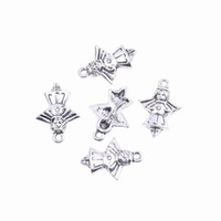 Charms metal angel craft - 5pcs Bag Chic Metal Accessories Charms Bead Angel Shape Jewelry Findings For Necklace Bracelet Craft DIY Making AUB39