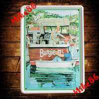Metal Yes Antique Imitation [ Mike86 ] Burgie Boat Metal Plaque Wall Decor Painting ART vintage House Bar Tin SignsA-578 Mix Items 20*30 CM