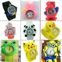 Wholesale 120pcs Hot Selling Mix Kids Teens Cartoon Silicone Wristwatch Superheros Cat Minions Bee Animals Children Slap Watch Ebay Amazon Hot Item