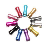 Wholesale 2014 newest Flat round Metal Drip Tip Head Metal Mouthpiece For EGO Atomizer series
