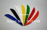 Wholesale 50 pieces inch hunting arrows fletching turkey feathers arrows fletching dedicated solely colorful variety of colors
