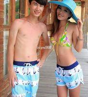 Wholesale 2014 New nd Beach Couples swimwear shorts Women Men Blue Anchor Board Shorts Quick drying Spring Summer Surf Sports Shorts