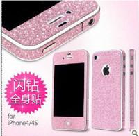 Wholesale Full Body Matte Glitter Bling Skin Sticker Screen Protector For iPhone S