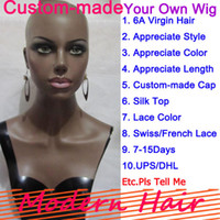 Wholesale 2014New Private Custom Made YOUR OWN WIG You Appreciate Style Density Color Length Silk Top Glueless Full Front Lace Wigs