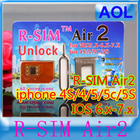 Wholesale R SIM Air RSIM air2 generation Unlock for iphone S C S G iOS6 X X Support US iOS7 Sprint AT amp T T mobile Crick