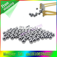 Wholesale x mm Catapult Slingshot Hitting Ammo Steel Ball Bike Bearing Balls for hunting shooting outdoor ruimones