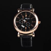 Men's Water Resistant Round SS8020 Vogue Men Business Watches,Men's Leather Strap Wristwatches,Japan Movement Quartz Clocks