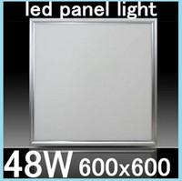 No 85-265V 3014/2835 Square LED Panel light 600x600mm SMD3014 48W 60x60 led ceiling lights Warm White Cool White Aluminum focus led+LED Driver