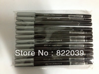 Waterproof Pencil Eyeliner Waterproof Liquid Black Eye Liner Eyeliner Pencil Make up Pen 12pcs lot