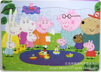 Wholesale new peppa pig Cartoon Jigsaw Puzzle For Children Adults Toys Novelty Gifts kids Educational toys designs sets
