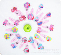 Barrettes other Animal 2014 new Baby BB clips girls hairpins Children Hair clips silicone Headwear cute cartoon Peppa pig doll girls hair accessories 11 designs