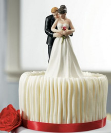 Wholesale 2014 Yes to the Rose Bride and Groom Couple Figurine Wedding Cake Toppers