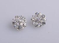 Wholesale Crystal Rhinestone Embellishment Sew On Flower Center mm Shank Back Silver Color
