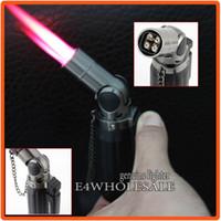 cigar lighter - 1300 Centigrade Welding Torch Lighter Cigar Cigarette Butane Gas Lighter Jet Quadruple Hot Pink Flame