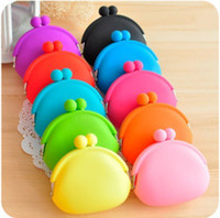 mini purses - candy color mini coin bag cute coin purse silicone money bag puse Japanese style coin wallet