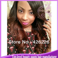 Wig,Half Wig Human Hair Black New arrival two tone human hair wig #1b #33 150%-180% density ombre color lace front wig glueless with bleached knots baby hair