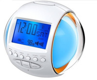 Wholesale Nature Sound Alarm Digital Clock with Color LED Flashing Calendar and FM Radio