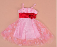 gegrge - Foreign Trade of the Original Order Exported to Europe GEGRGE Sweet White and Pink Flower Girls Princess Dress Cute Suspenders XHH543