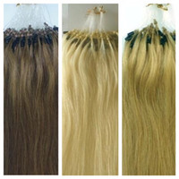 Wholesale 22 inches pieces Remy Human hair extensionns micro beads amp PU tape very top quality DHL