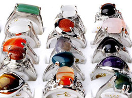 Bulks 25pcs Mixed Faux zircon Stone Tone Rings Fashin Wholesale Jewellery Lots