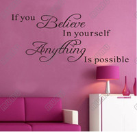 PVC believe wall - if you believe in yourself anything is possible Quotable carved wall stickers wall stickers