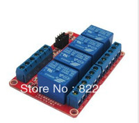 Wholesale 4 road relay module RM V V V V With optical coupling isolation Support the high and low level trigger