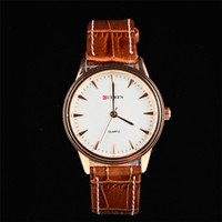 Men's Water Resistant Round SS8017 CURREN Japan Movement Quartz Clocks Business Men's Watches,Men's Leather Strap Wristwatches