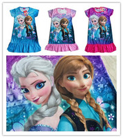 Summer used clothing - High Quality anna elsa olaf girl clothes cartoon girl princess dress girls dress Snow Romance CONDITION New Brand never been used