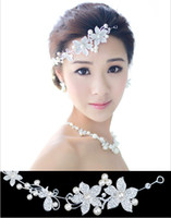 Wholesale 2014 Top One Fashion Wedding Bridal Hair Jewelry Fancy Pearl Flower Austral Crystal Tiaras amp Hair Accessories VHJ