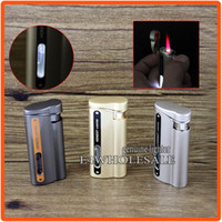 Honest White LED Light Briquet coupe-vent Jet Hot Pink Flame Cigarette Cigar Islet