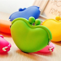 Wholesale New Lady Girl Women Cute Candy Color Silica Gel Purse Key Bag Jelly Silicone Coin purses Silicone Coin Wallet