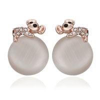 Wholesale fashion K rose gold plated fashion opal and crystal earrings jewelry KE886