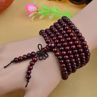 Beaded, Strands sandalwood beads - Unisex Original ecological lobular red sandalwood Buddha Sandalwood mm Buddha Bead Buddhist For girl