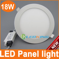 18W No LED Non Dimmable 18W downlight Dia.225xH. 11.5mm Cut out 200mm LED Panel Lights led ceiling light White Color Downlights Free Shipping