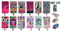 For Samsung PU+TPU Wholesale For Samsung Galaxy S3 MINI i8190 S4 mini i9190 Carton Cute Wallet Book Flip Leather Stand Case
