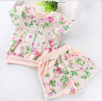 Girl Summer Short GXR Children Clothing Summer New Floral Letter T Shirt + Shorts 2pcs Kid's Girl Set %100 Good Quality Children Suit 2-7Year Baby Wear GX151