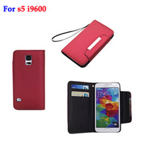 For Samsung phone case purse - Wallet Credit Card Slot Litchi Skin Flip Leather Cover Case for Samsung Galaxy S5 i9600 Mobile Phone Cases Purse Pouch Holster Book Style