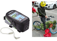 Wholesale High Quality New Waterproof Outdoor Cycling Sport bag Bike Bicycle bag Frame Front Tube Pannier for Cell Phone